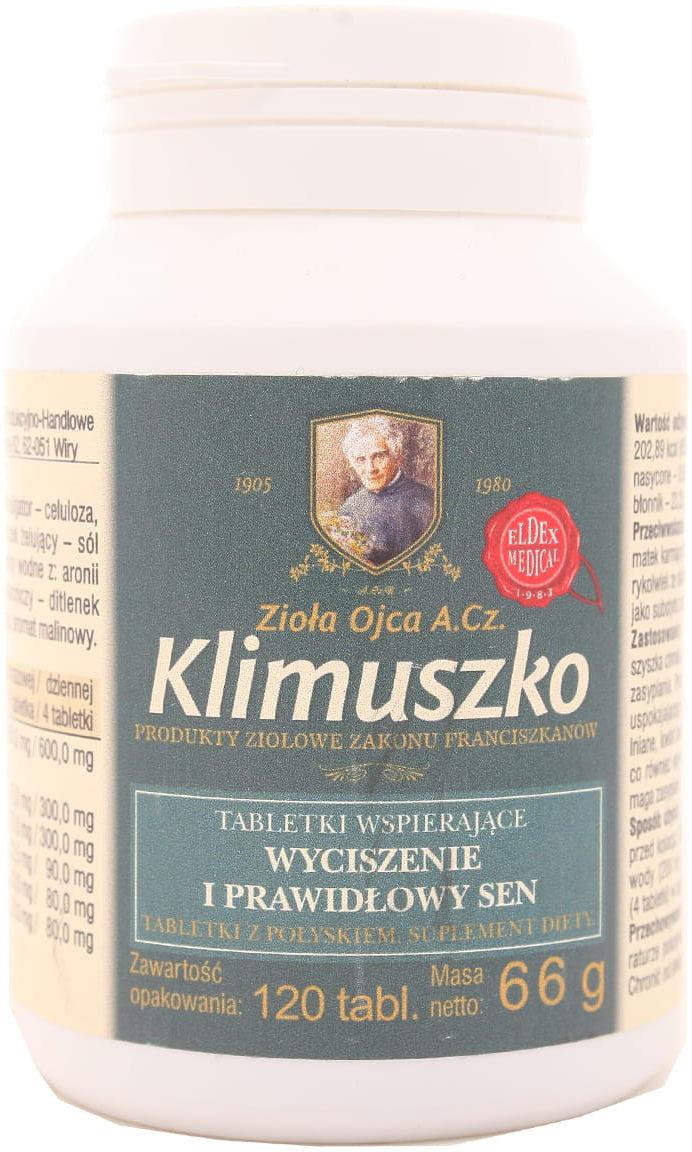 Klimuszko - wyciszenie prawidłowy sen - Eldex Medical - 120kaps