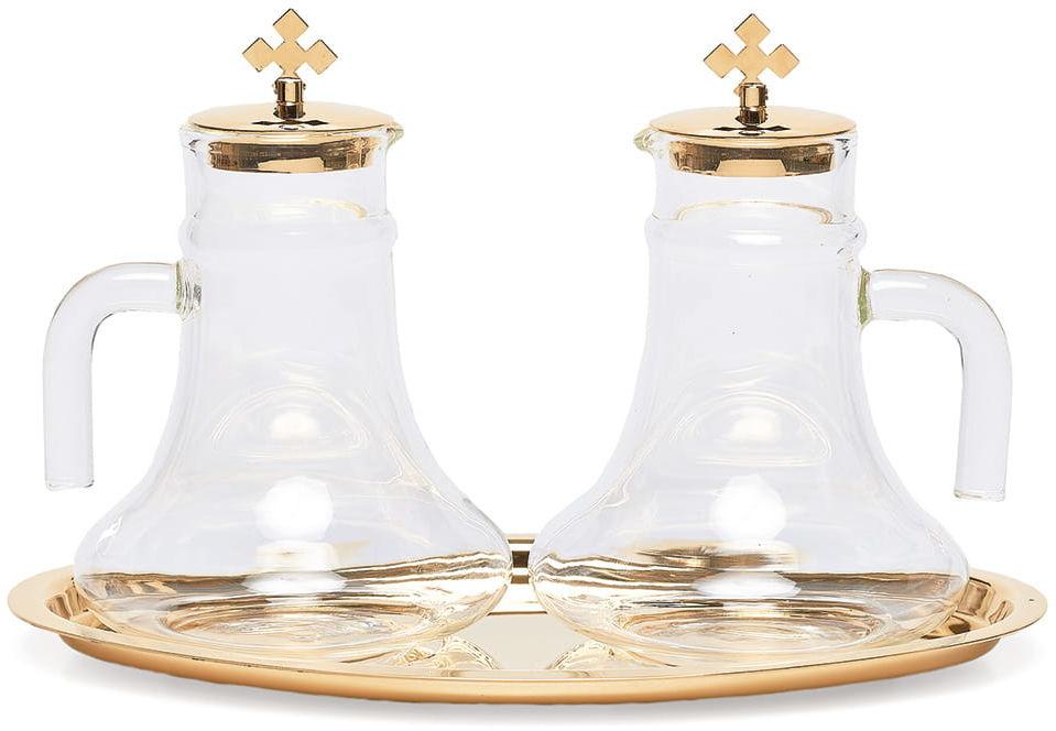 Ampułki szklane komplet z tacą