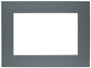 Passepartout 15x21 cm (10x15) ciemno-szare