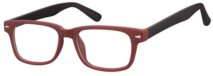 Okulary Zerówki klasyczne oprawki Sunoptic CP156F bordowe