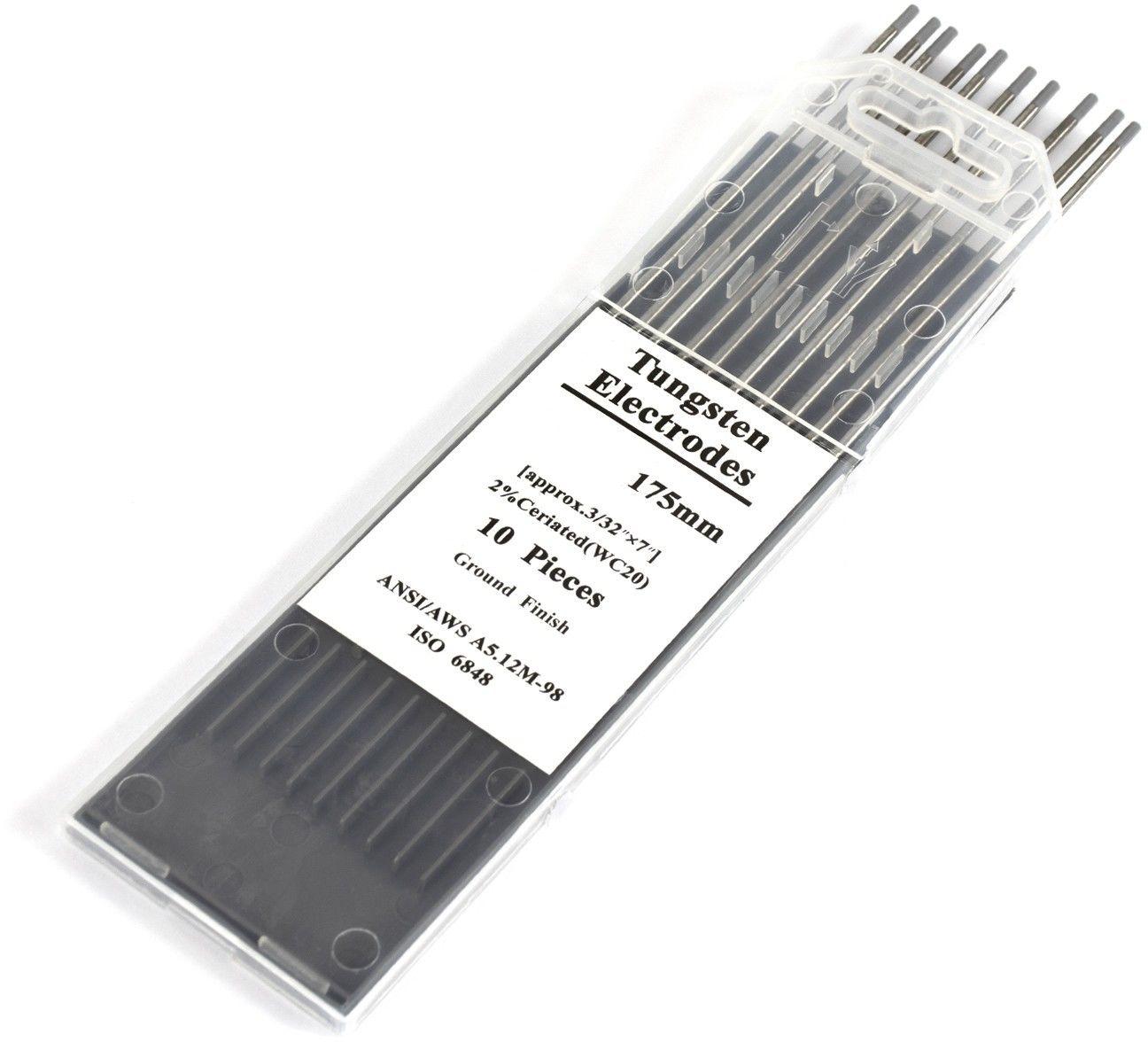 Elektrody wolframowe WC20 szare 2,4 mm x 175 mm