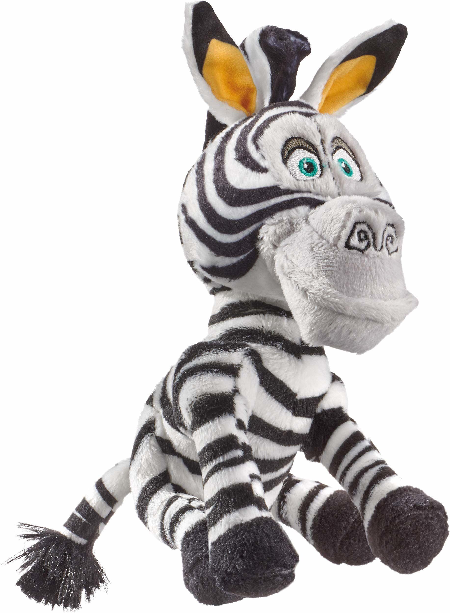 Schmidt Spiele 42709 DreamWorks Madagascar, Marty, pluszowa figurka zebra, mała, 18 cm, kolorowa