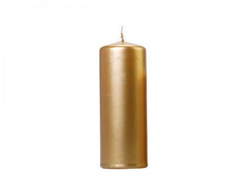 Świece klubowe, grube złote metalizowane 15 x 6 cm, (6 szt.)