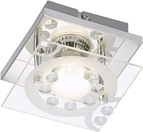 Briloner Obudowa, lampa ścienna, reflektor LED, lampa sufitowa, metal, GU10, 3 W, chrom