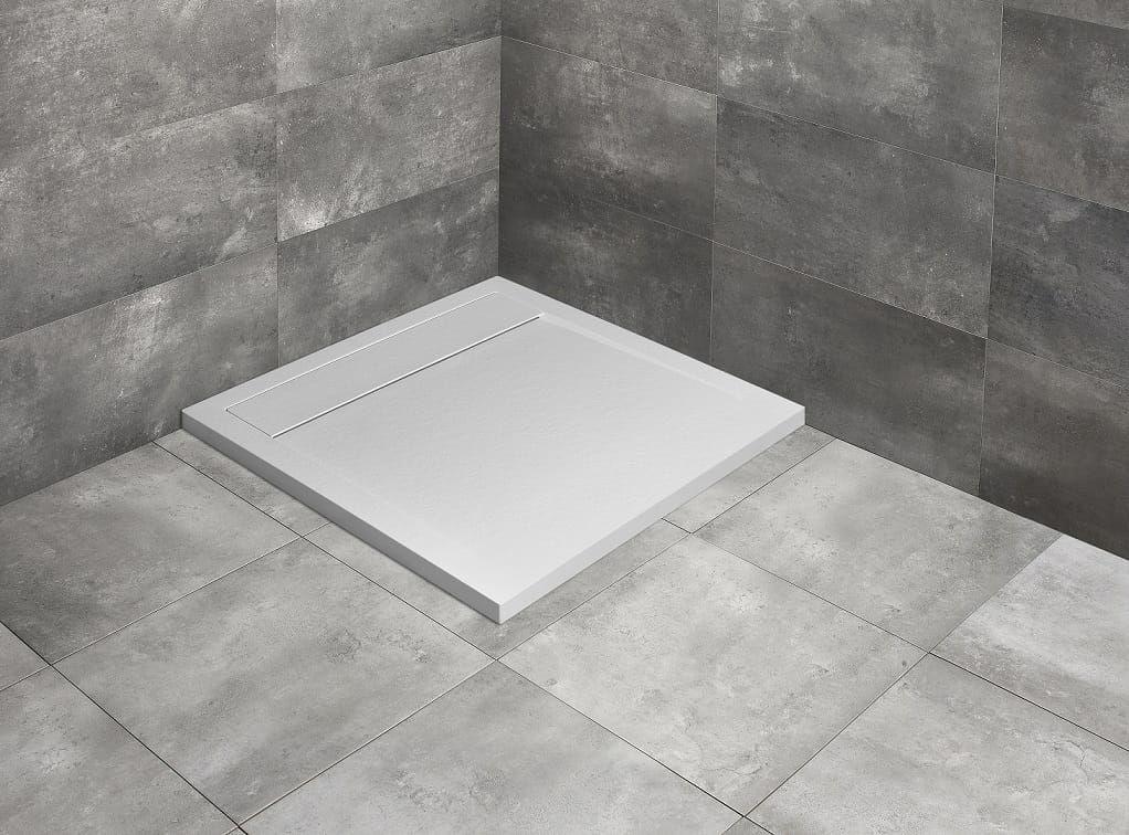 Radaway brodzik z konglomeratu Teos C biały 80x80 cm HTC8080-04