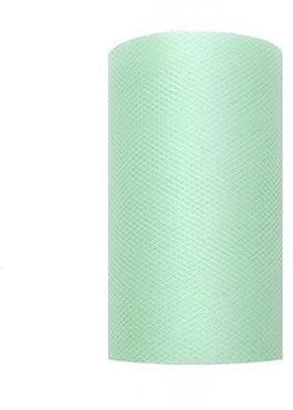 Tiul dekoracyjny miętowy 8cm rolka 20m TIU8-103 - 8CM MIĘTOWY