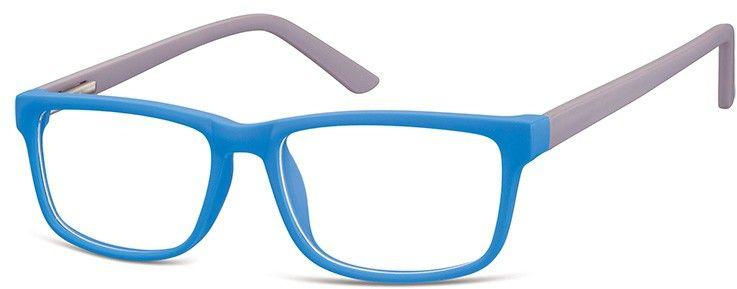 Okulary Zerówki oprawki Sunoptic CP157A niebiesko-szare