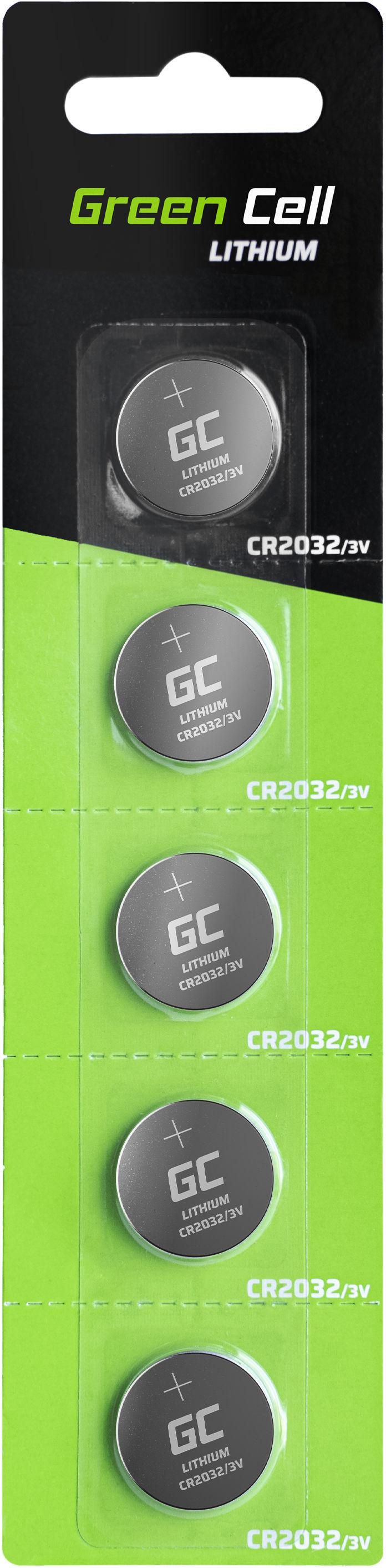 Green Cell Blister 5x Bateria Litowa CR2032 3V 220mAh Guzikowa Pastylkowa