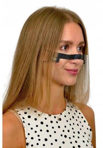 Maska ochronna typu przyłbica mini na nos i usta z astestem  zestaw 3 sztuki