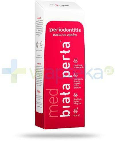 Biała Perła Med periodontitis pasta do zębów 75 ml