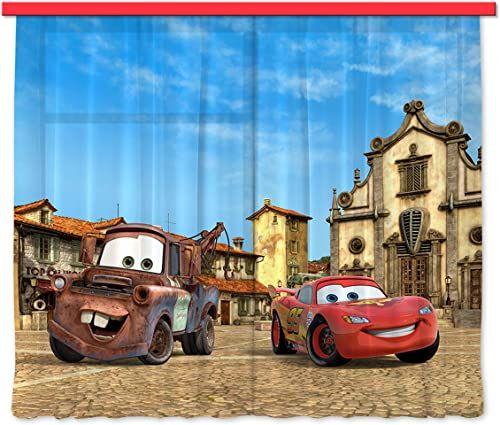 Firanka/zasłona FCS XL 4315 pokój dziecięcy Disney Cars