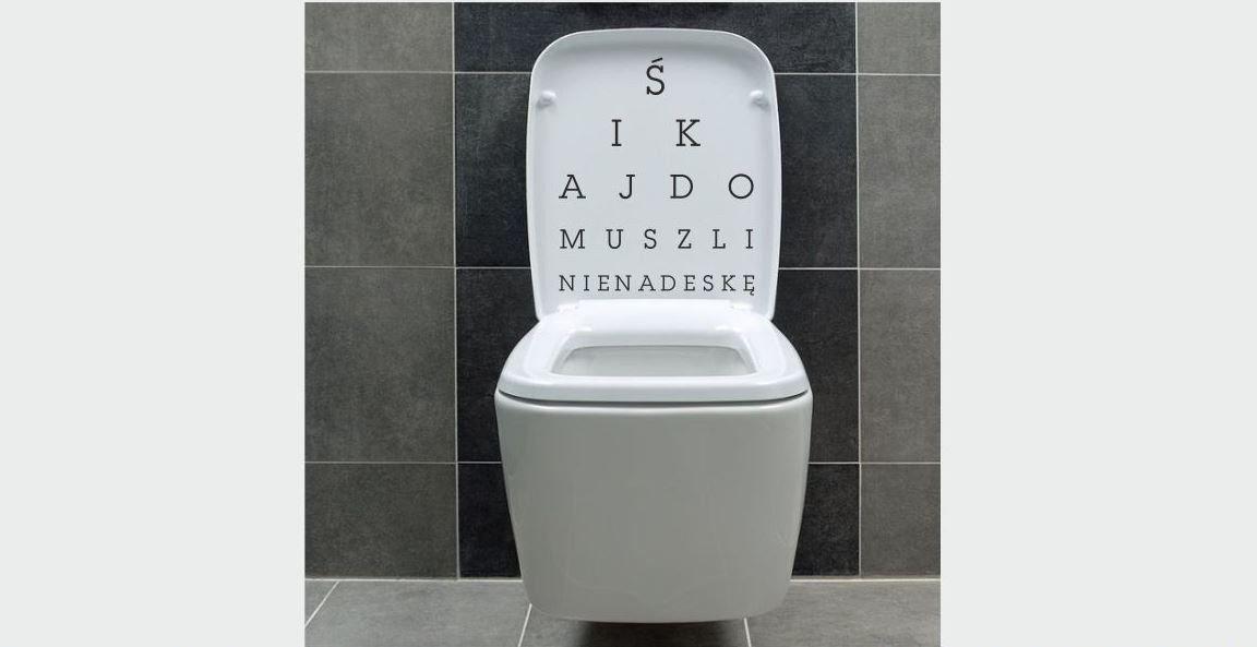 Naklejka do łazienki Literki