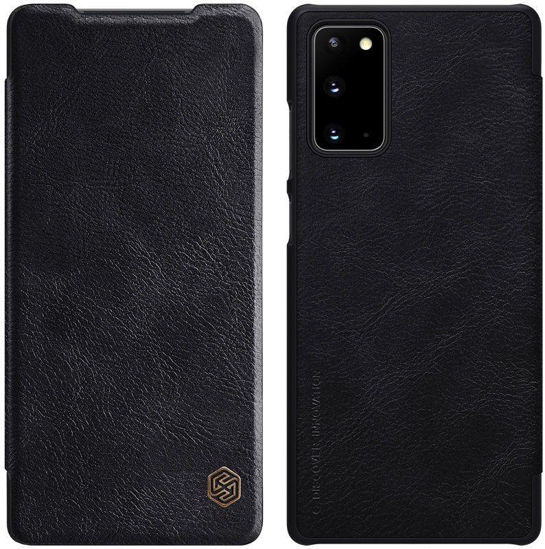 Nillkin Qin skórzana kabura etui Samsung Galaxy Note 20 czarny