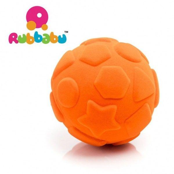 Rubbabu - Sensoryczna Piłeczka Edukacyjna Pomarańczowa