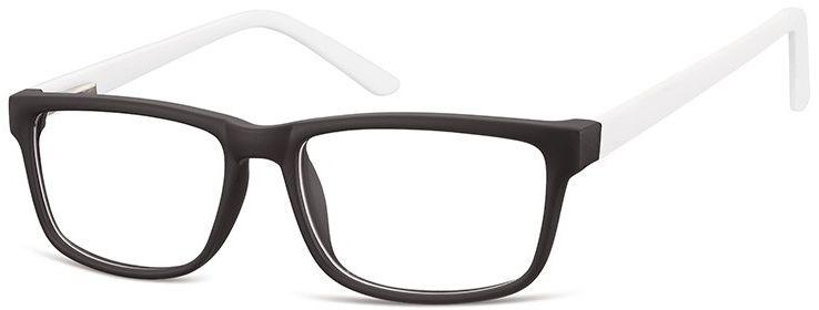 Okulary Zerówki oprawki Sunoptic CP157D czarno-białe