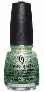 China glaze Nail Lacquer - Holo At Ya Girl! (zielony / złoty brokat), 14 ml
