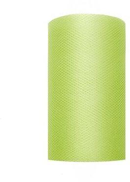 Tiul dekoracyjny jasnozielony 8cm rolka 20m TIU8-102 - 8CM JASNY ZIELONY