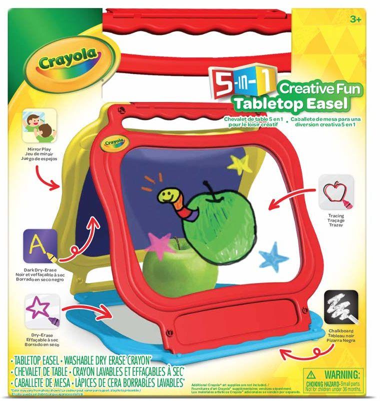 CRAYOLA 5098 bankiet 5-w-1 sztaluga stołowa do pisania, rysowania, malowania. Z uchwytem do noszenia, łatwa do przenoszenia
