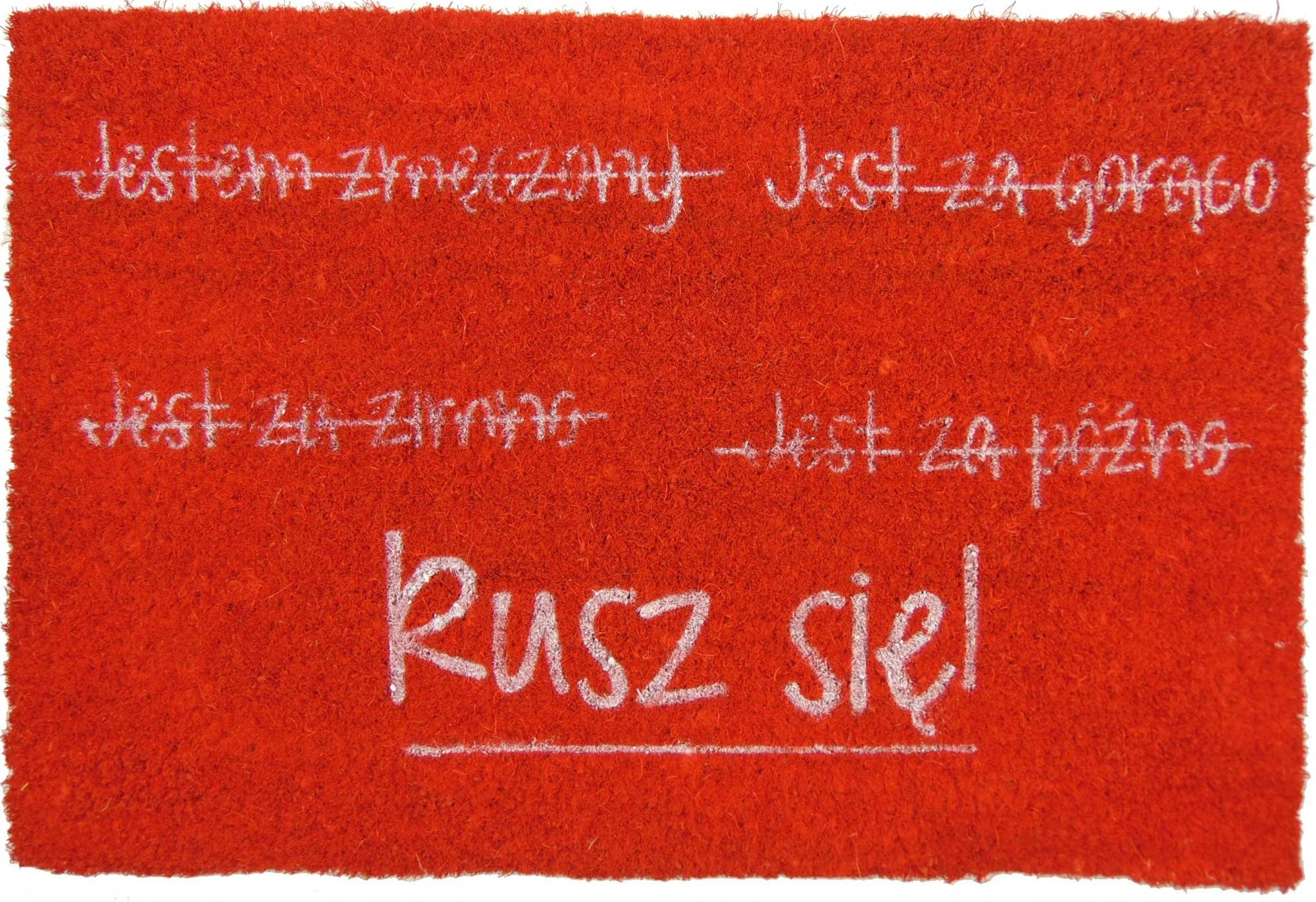 Wycieraczka z napisem RUSZ SIĘ
