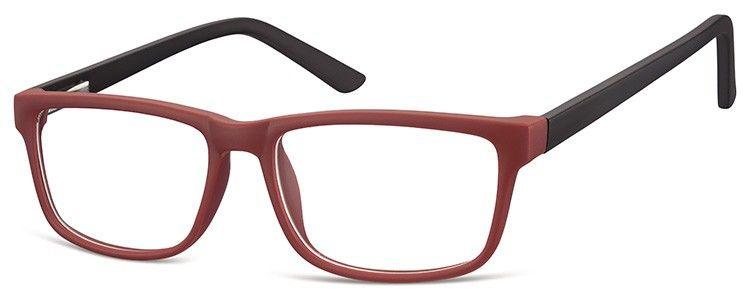 Okulary Zerówki oprawki Sunoptic CP157F bordowo-czarne