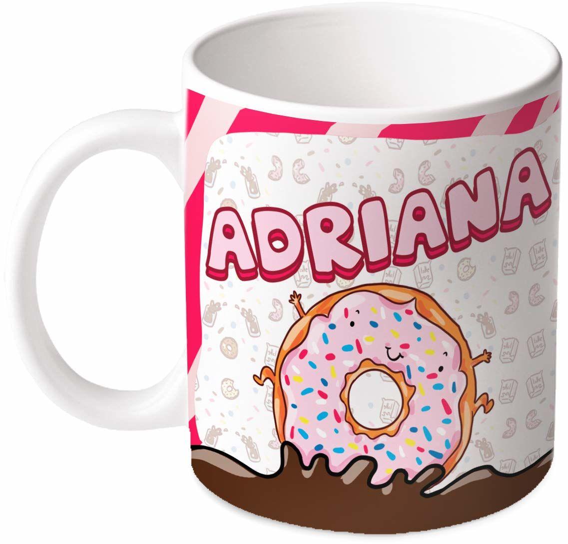 M.M. Group Filiżanka z imieniem i znaczeniem Adriana, 30 ml, ceramika, wielokolorowa
