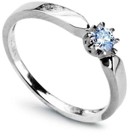 Staviori pierścionek z białego złota pr.0,750 z błękitnym szafirem