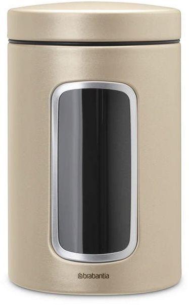Brabantia - pojemnik z okienkiem  1.4l - szampański - złoty