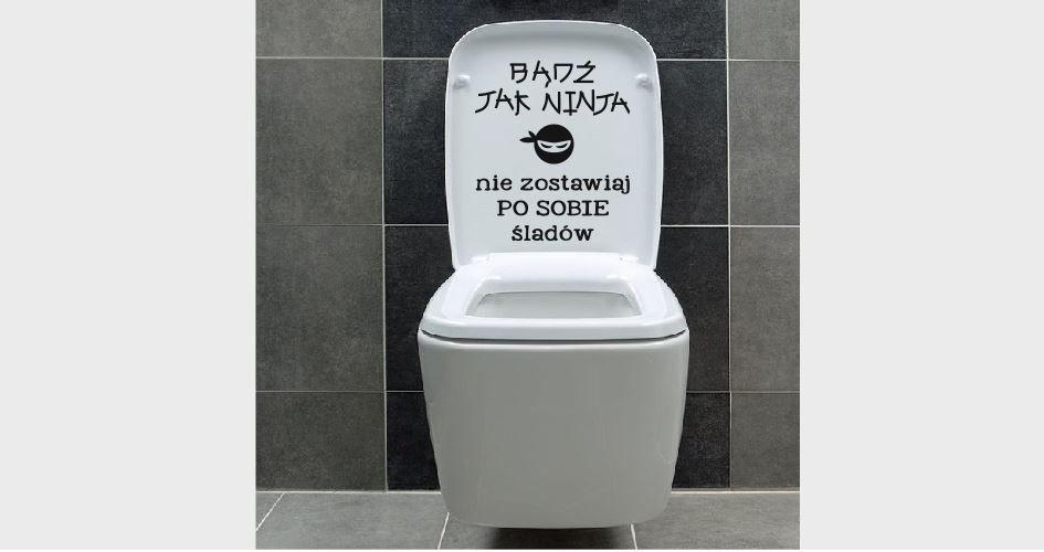 Naklejka do łazienki Ninja