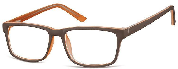 Okulary Zerówki oprawki Sunoptic CP157H brązowe