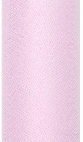Tiul dekoracyjny jasny różowy 80cm rolka 9m TIU80-081J - 80CM JASNY RÓŻOWY