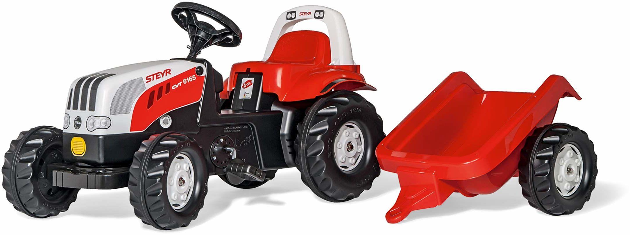 Rolly Toys 012510 - RollyKid Steyr 6165 CVT traktor z pedałem, dla dzieci od 2,5 lat, cicha opona jezdna, pałąk do rolowania)