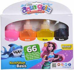 Simba 106322453 Aqua Gelz zestaw do uzupełniania bazy, miękkie figurki w 3D, zanurz kolorowy żel w kształtach, od 8 lat