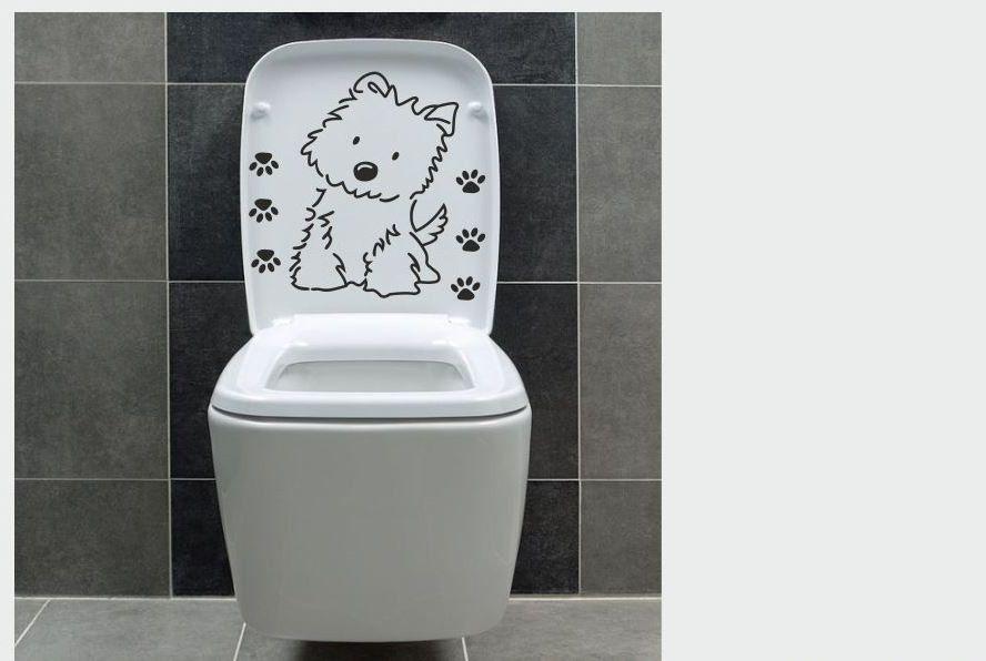 Naklejka do łazienki Piesek z łapkami