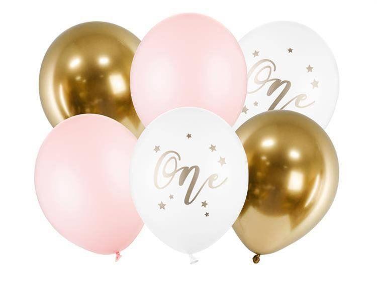 Bukiet balonowy na Roczek dziewczynki 7 sztuk A30