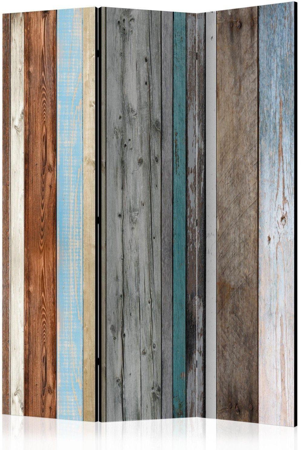 Parawan 3-częściowy - ułożone kolory [room dividers]