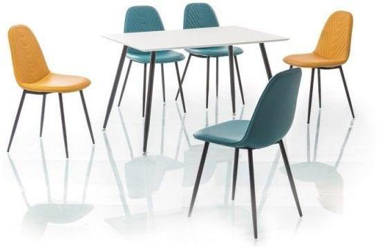Stół FLORO biały/czarny w stylu skandynawskim  KUP TERAZ - OTRZYMAJ RABAT
