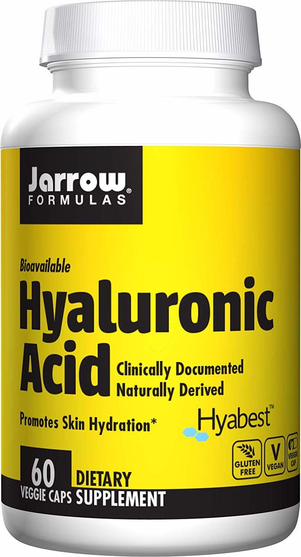 JARROW FORMULAS Hyaluronic Acid (Kwas Hialuronowy) 60 Kapsułek wegetariańskich