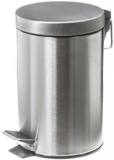 Metalowy kosz na śmieci 12 litrów stal nierdzewna matowa Stalowy kosz na śmieci do łazienki 12 l
