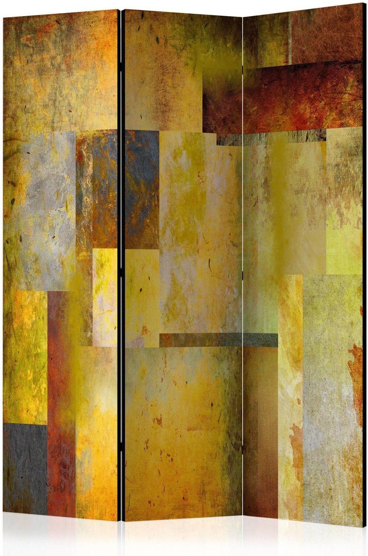 Parawan 3-częściowy - pomarańczowy odcień ekspresji [room dividers]