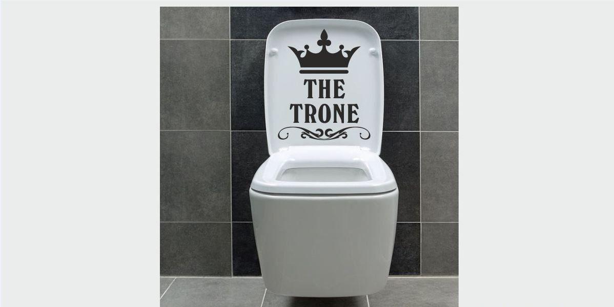 Naklejka do łazienki Tron