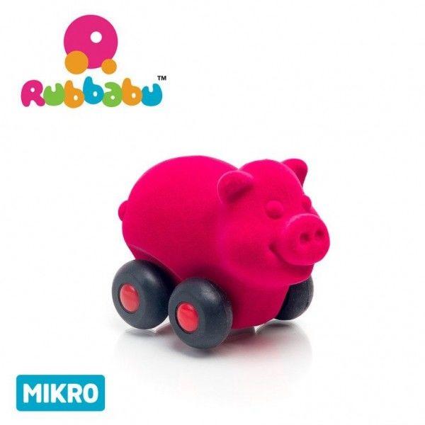 Rubbabu - Świnka Pojazd Sensoryczny Różowy Mikro