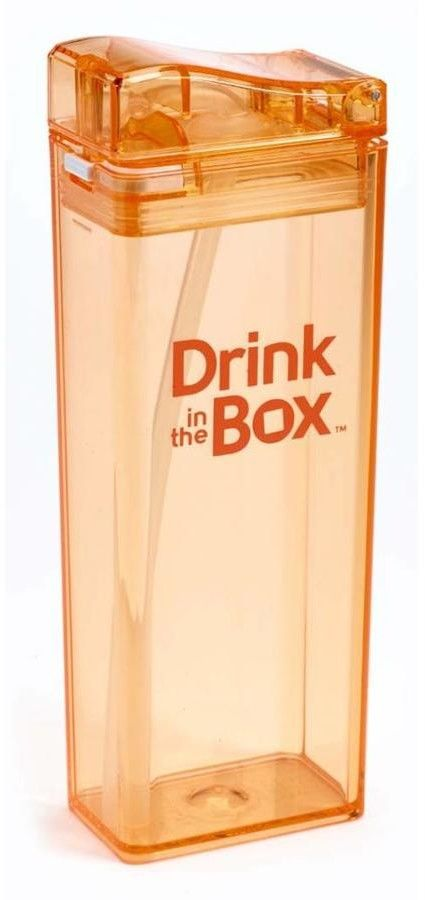 DRINK IN THE BOX - Drink in The Box Classic Bidon ze Słomką Orange 350 ml