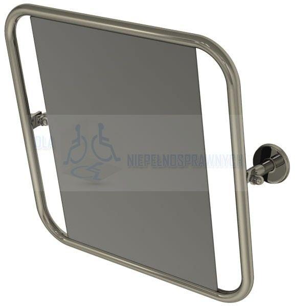 Lustro uchylne w pełnej ramie, PSP 800, dla niepełnosprawnych, przy umywalce