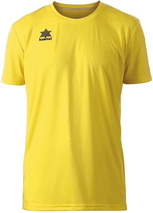 Luanvi Pol koszulka męska z krótkim rękawem S żółta
