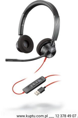 Blackwire 3320 przewodowy zestaw słuchawkowy USB A (214012-01)