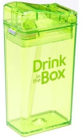 DRINK IN THE BOX - Drink in The Box Classic Bidon ze Słomką Green 240 ml