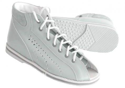 POSTĘP buty kapcie sandałki profilaktyczne z obcasem Thomasa BP 38 M2 jasny popiel