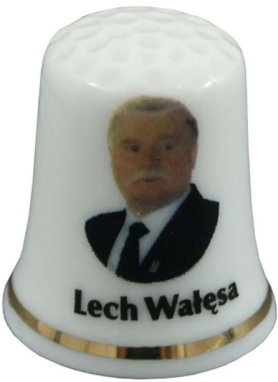 Naparstek porcelanowy - Lech Wałęsa