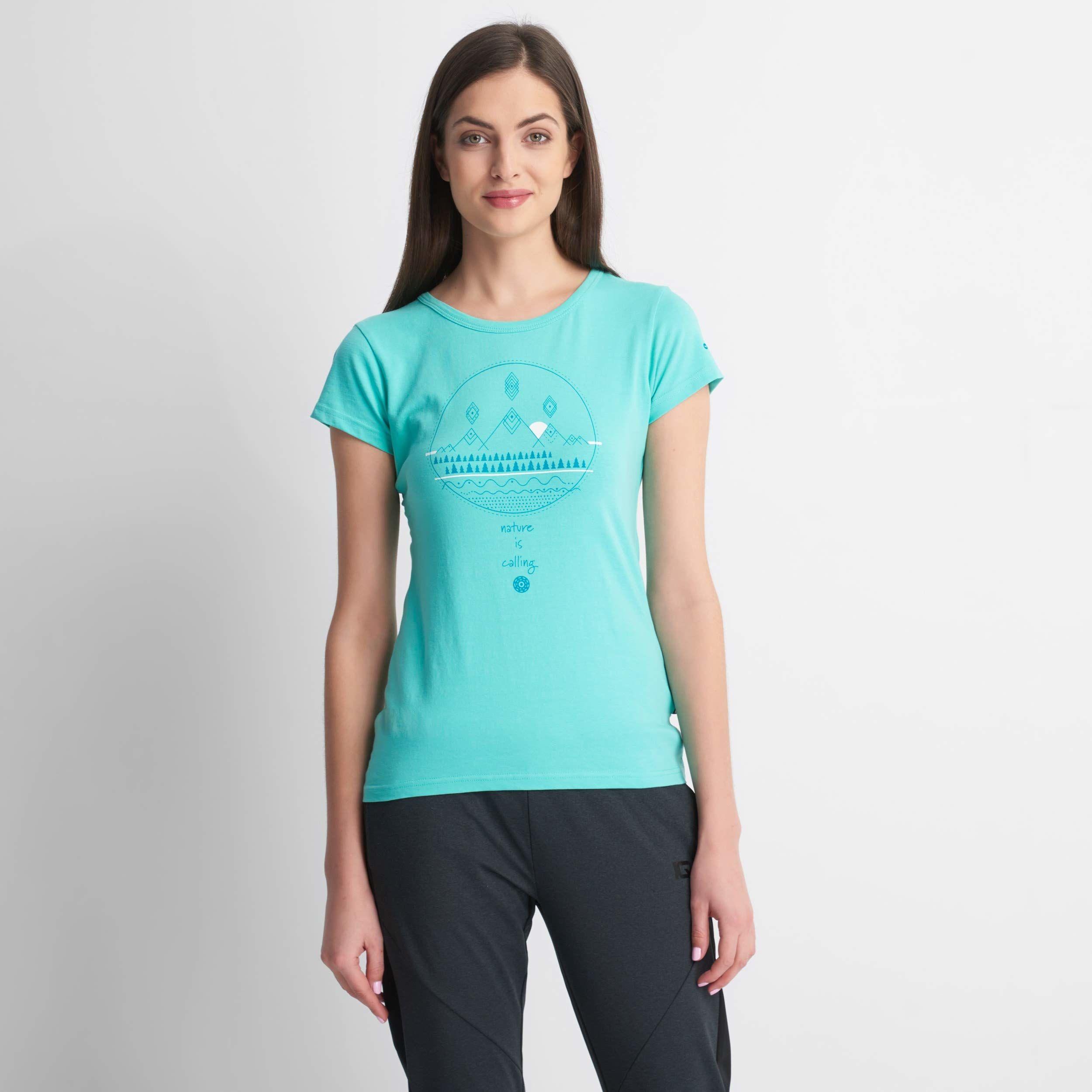 Hi-Tec Wilma T-shirt damski niebieski Aqua Splash X-S