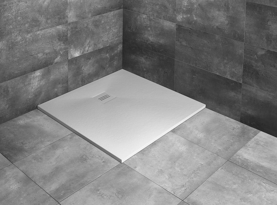 Radaway brodzik z konglomeratu Kyntos C biały 80x80 cm HKC8080-04